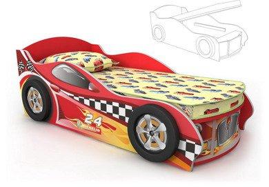 Купить детскую кровать-машину