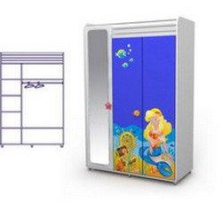 Трехдверный шкаф детский