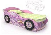 Кровать-машина розовая