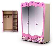 Трехдверный шкаф с зеркалами