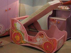 кровать карета детская